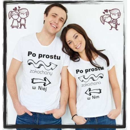 b970b3e86 poprostu zakochany w niej... - Koszulki z nadrukiem Tint Print
