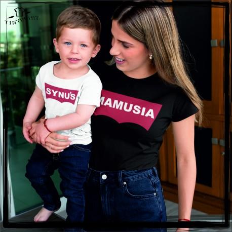 zestaw koszulek dla mam i syna MAMUSIA, SYNUŚ