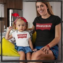 ZESTAW KOSZULEK DLA MAMY I CÓRKI MAMUSIA, CÓRUSIA