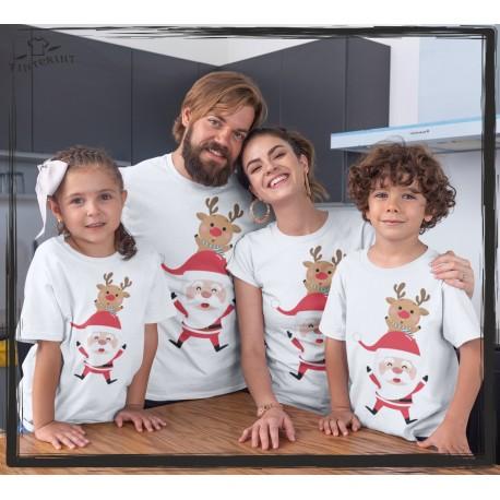 Zestaw koszulek Renifer, Mikołaj