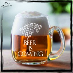 BEER IS COMING KUFEL Z GRAWEREM