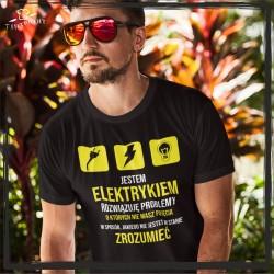 Jestem elektrykiem Koszulka zawód koszulka z nadrukiem Elektryk