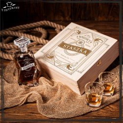 Whisky (imię) pudełko karafka i 6 szklanek