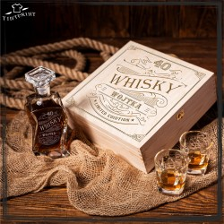 20,30,40,50 whisky pudełko karafka i 6 szklanek
