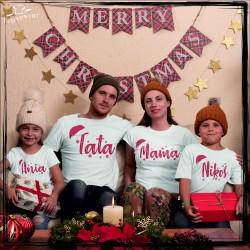 Zestaw koszulek świąteczny napis