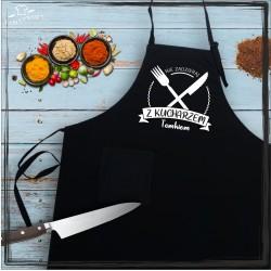Fartuch - nie zadzieraj z kucharzem (imię)