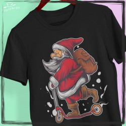 Mikołaj na hulajnodze