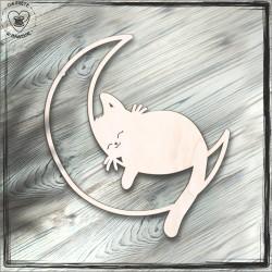 kot na księżycu baza do łapacza, ozdoba na ścianę