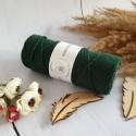 butelkowa zieleń - 3mm 100m Sznurek bawełniany skręcany 3ply