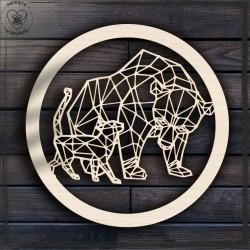 Niedźwiedz i kot Obręcz, koło, baza do łapacza