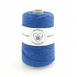 Niebieski - 3mm Sznurek bawełniany skręcany
