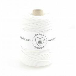 Biały - 5mm 100m Sznurek bawełniany skręcany