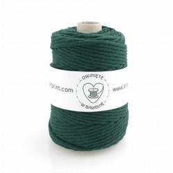 Butelkowa zieleń- 5mm 100m Sznurek bawełniany skręcany