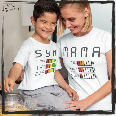 Baterie zestaw koszulek dla mamy i syna