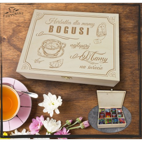 Pudełko Herbat Herbatka dla mamy (imię) ...