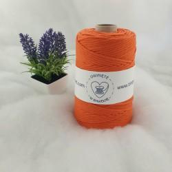 pomarańczowy - 3mm 200m Sznurek bawełniany skręcany