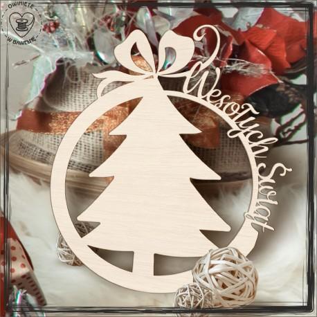 Obrecz świąteczna choinka- baza pod chrobotek